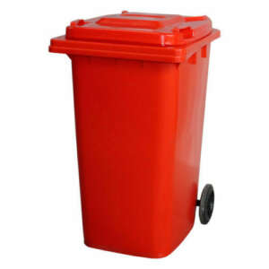 Wheelie Bin 120 Litre | Red colour