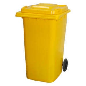 Wheelie Bin 120 Litre | Yellow colour