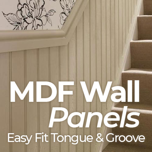 MDF Wall Panel - Tongue and Groove MDF Wall Panel