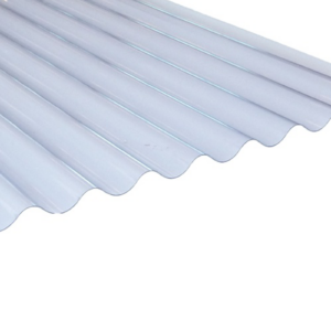 Clear PVC Corrugated Roofing Sheet 755mm x 0.8mm | 1520mm (5ft)