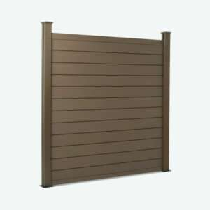 Brown Composite Fence Panels